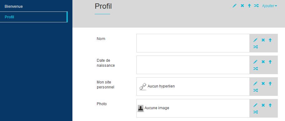 Profil personnel pour la datation